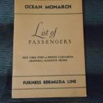Furness Bermuda Line: Ocean Monarch 1956 Cruise Passenger List.