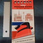 French Line: 1966 Passage Rates Folder