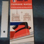 French Line: 1963 Passage Rates Folder Dated September 1st, 1963
