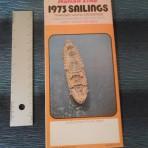 Italian Line: 1973 Sailings Folder