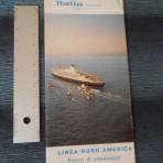 Italian Line: 1965 Sailings Folder