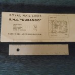 Royal Mail Lines: RMS Durango mini-Tissue Deckplan