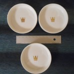 Royal Cruises: 3 White Pin Dishes