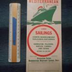Italian Line: 1950 sailings folder