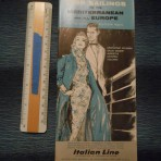 Italian Line: 1959 sailings folder