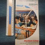 Italian Line: 1962 sailings folder