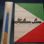 Italian Line: Italian Tricolor Ticket Folder