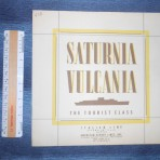 Italian Lines: Saturnia / Vulcania Tourist Interiors Brochure.