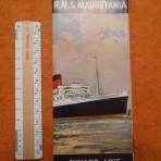 Cunard Line: Mauretania 2 Interiors foldout
