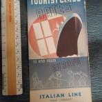Italian Line:  Tourist fare folder 1936