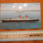 United States Lines: SS America Lady Liberty postcard