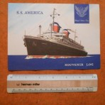 United States Lines: SS America Log card Voyage 245 July 1961