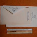 United States Lines: SS America eagle Letterhead and envelope and  Airmail letterhead sheet