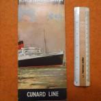 Cunard Line: Mauretania 2 interior fold out