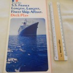 French Line: SS France longest largest finest ship deck plan