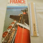 French Line: SS France greets you booklet w/ cutaway