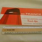 French Line: SS France 9-1967 miniature deck plan