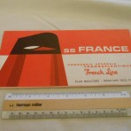 French Line: SS France miniature deck plan mid 60's