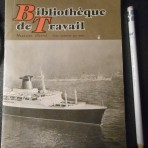 French Line: Bibliotheque de Travail Magazine march 1962 SS France