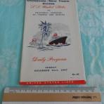 United States Lines: SS United States Holiday Cruise Daily program.