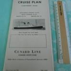 Cunard White Star: RMS Mauretania Cruise Plan 1950