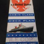 United States Lines: SSUS Cabin Class March 1957 Deckplans