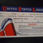 United States Lines: SS America Ticket Folder
