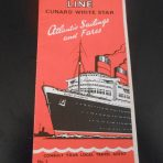Cunard / White Star Line: August 1954 Sailings and Fares