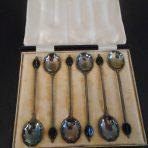 Cunard Line: RMS Samaria Souvenir Spoons In Case