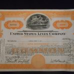 United States Line: SS America Stock Certificate