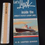 """United States Lines: """"A look inside the world's fastest luxury liner"""" cutaway"""
