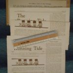 Cunard White Star:  3 1935 issues of The Running Tide … log of the CWS travel club.