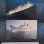 Eastern Cruise Line: 2 SS Emerald Seas postcards.