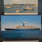 Lauro Lines: 2 Angelina Lauro postcards.