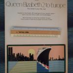 Cunard Line: QE2 1979 Europe Brochure.