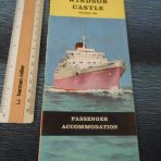 Union Castle Line:  RMS Windsor castle 1964 deckplan