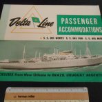Delta Line: Passenger Accommodations Del Norte, Sud and Mar