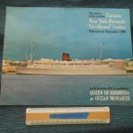 Furness Bermuda Line: Queen of Bermuda / Ocean Monarch 1966 Last Season Brochure