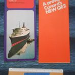Cunard Line: QE2 preview and 1969 Schedule/ Fares foldout.