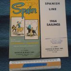 Spanish Line: Covadonga / Guadalupe DP flyer and Rate Sheet 1964