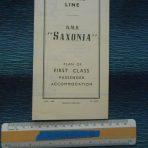 Cunard WSL Line: 1954 Saxonia Plans