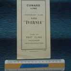 Cunard WSL Line: 1955 Temporary First class Ivernia Plans