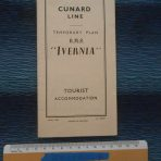 Cunard WSL Line: 1955 Temporary Tourist class Ivernia Plans