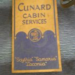 Cunard line: Cabin Services Scythia, Samaria Laconia mini brochure