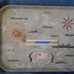 French Line: Early 60's Souvenir Lunch tray
