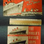 Cunard: 2 Post War Pamphlet's: Wonder ships and Conquest