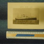 White Star Line: SS Albertic  Photo log card