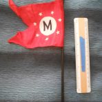 Matson Line: Souvenir Tabletop House Flag.