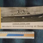 American Export Lines: Independence / Constitution Deck Plan Booklet