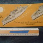 American Export: SS Independence and SS Constitution Orange deck plan booklet January 1962